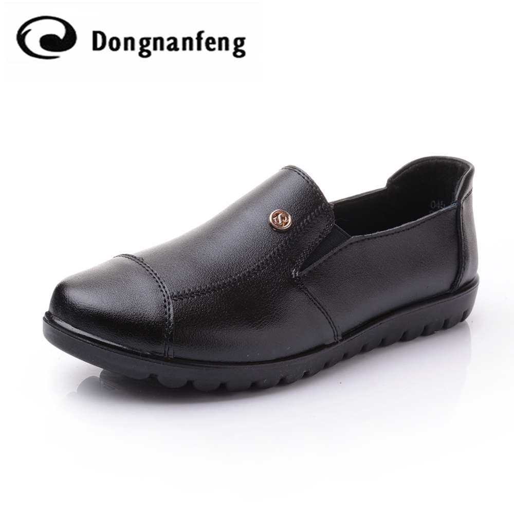 Best Women Flats Shoes Quality Genuine Leather Round Mother Shoes Women  Oxford Leather Shoes Casual Brand Name Superstar DNF8011 Reviews 2797e1f338