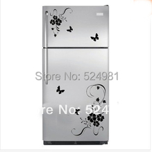2017 New arrival! Freeshipping Flower Wall Art Stickers Wall Decal Kitchen Refrigerator Flower Home Decor Decoration hot sale