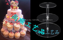 FREE SHIPPING 3 TIER SQUARE CUPCAKE WEDDING FAIRY CUP CAKE STAND, CUPCAKE HOLDER
