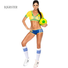 DJGRSTER Glee Style Cheerleader Costume Outfit Uniforms Clothing Varsity Cheerleading Girl Uniform for Performances