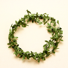 5 Meter Silk Nature Green Artificial Leaf Leaves Vine Wedding Decoration Foliage Scrapbooking Craft Wreath Fake Flowers