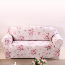 Pink Flowers Couch Sofa Covers For Living Room Loveseat Spandex Corner Sofa Slipcovers Universal Stretch Furniture Covers Plush(China)