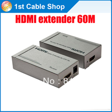 HDMI extender over ethernet lan cable cat5e/5 supports 1080p and up to 60mts