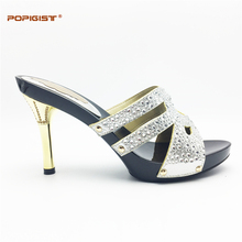 Silver female beautiful Wedding Shoes Woman Shoes without bag pumps graceful African Party Dinner Shoe possible match with bag(China)