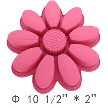 2016 Brand New Flowers Birthday Cake Pans Bread Pizza Baking Tray Silicone Cake Mold Bakeware FDA&SGS Quality