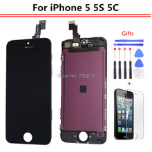 AAA Quality No Dead Pixel Pantalla For iPhone 5 5s 5c 6 6plus LCD Display Screen with touch Pad Digitizer Assembly replacement