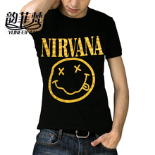 2016 New Trendy Hot sale Men`s t-shirt,men Short Sleeve fashion t shirt men,brand t-shirt Nirvana Tree Wolf Tiger Fire A3 M-XXXL