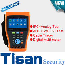 4.3 inch touch screen CVI 3.0TVI IP Analog AHD Camera cctv test monitor cctv tester with Cable Tracer test ,Digital multi-meter(China)