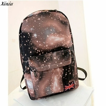2017 Famous Brand Best Selling Colorful Star Sky Unisex Canvas Backpack Satchel Travel Rucksack School College Backpack Rock