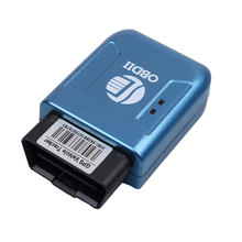 TK206 OBD2 New Real Time GPS GPRS Tracker  Car Vehicle Tracking System  Geofence protect Vibration Cell Phone SMS alarm alert