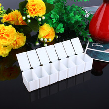 Portable Mini Weekly Pillbox Organizer Plastic 7 Day Medicine Pill Box Travel Medicine Case Pillbox Drugs Container
