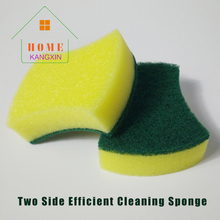 Promotion Arc-shaped Two side useful kitchen cleaning sponge scouring pad dish washing Dust Cleaning scourer fibre magic sponge