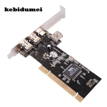 kebidumei 3 Ports Firewire IEEE 1394 4/6 Pin PCI Card for DV DC HDD MP3 PDA(China)
