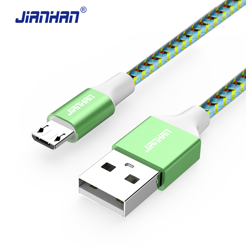 JianHan Micro USB Cable 1m 5V2A Fast Charger USB Data Cable for Huawei Samsung Galaxy S7 Xiaomi Redmi4 HTC OPPO LG Andorid Phone(China)