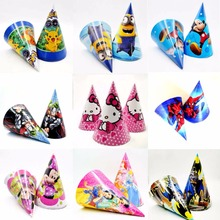 Hot PJ Masks Minnie Mickey Mouse Minions Spiderman Avengers Hello Kitty Princess Caps Theme Party Decorations Supplies Favors(China)