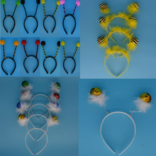 2017 New Kids Adult Alien Antenna Headband Eyes Tentacles UFO Bee Ladybug Hair Band Cosplay Headwear Birthday Party Favors Gift