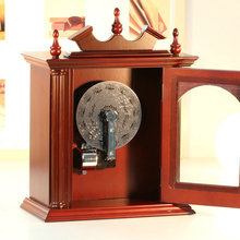 Wooden wardrobe electromechanical 30 music box cd player male gift birthday wedding Christmas home decoration free shipping