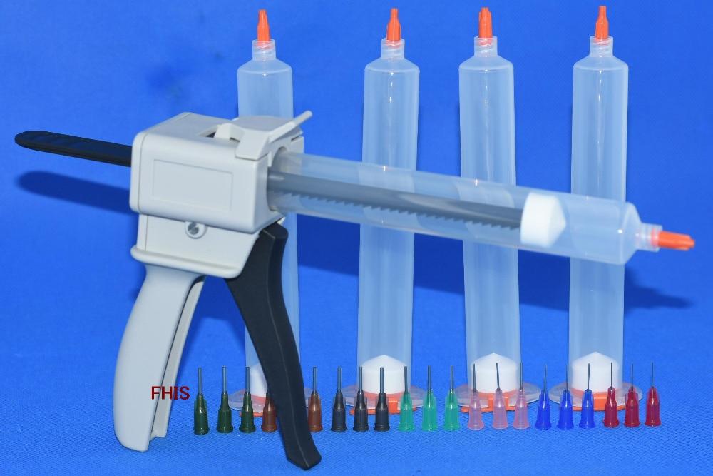 Manually single liquid glue gun 55ccCommon 1PCS &amp; 55CC cones 5 Sets &amp; Dispensing Tips<br>