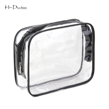 HDWISS Free Ship Environmental Protection PVC Transparent Cosmetic Bag Women Travel Make up Toiletry Bags Makeup Organizer Case