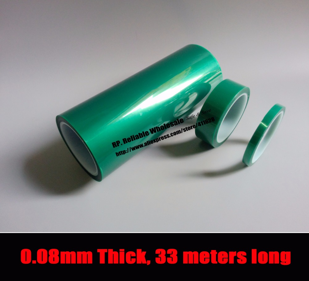 195mm*33 meters*0.08mm One Side Thermal Withstand Glued PET Polyester Film Tape for Shielding Golden Terminals<br>