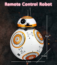 Free Shipping New Star Wars BB-8 Intelligent balls robot remote control toy can dance with sound and light boy gift(China)