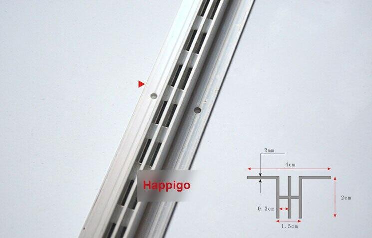 2.4 Meters AA double rails single row column aluminium bar DIY shelf track furniture accessories<br><br>Aliexpress