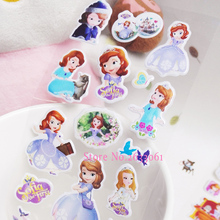 2017 New Arrival Special Offer Fashion Cartoon Sticker For Children Kids Toys Sofia Pasted Bubble Small Baby Toy 3D Stickers