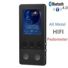 Bluetooth HIFI MP3 Player 1.8 inch TFT Screen 8GB music player with Voice Recorder, Pedometer, Video, FM Radio Support TF Card(China)