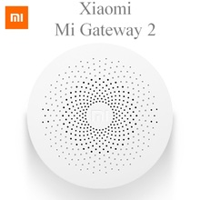 Original Multifunctional Xiaomi Mi Gateway 2 Hub Smart Home Alarm System Intelligent Mini Online Radio Update Gateway Hub