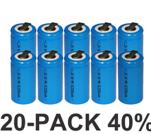 20PCS Sub C SC 1.2V rechargeable battery 2000mah ni-mh nimh cell with welding legs pins tab for vacuum cleaner electric drill(China)