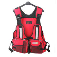New Adult Safety Swimming Buoyancy Aid Sailing Life Jacket Floating Vest Adjustable Fishing Clothing With Multi-Pocket(China)