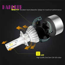 Kit Car Beam Bulb H7 7600LM LED Headlight Conversion Driving Lamp 6000K Ligero Luz quality new fashion 17may25