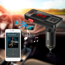 BT719 Wireless Bluetooth Speaker Car Kit LCD FM Transmitter MP3 Dual USB Charger Support USB/AUX/TF card Handsfree high quality(China)