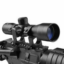 Buy Sniper compact Tactical 4X32 Compact Scope Reticle Hunting Riflescopes Cross-Hair Reticle Fits 20 mm Rail Mount mounts for $19.99 in AliExpress store