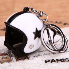 Mini Sport Motorcycle Helmet Pendant Keychain Unisex Keyring Key Chain Ring Finder Accessories Knight Gifts Wholesale K-071(China)
