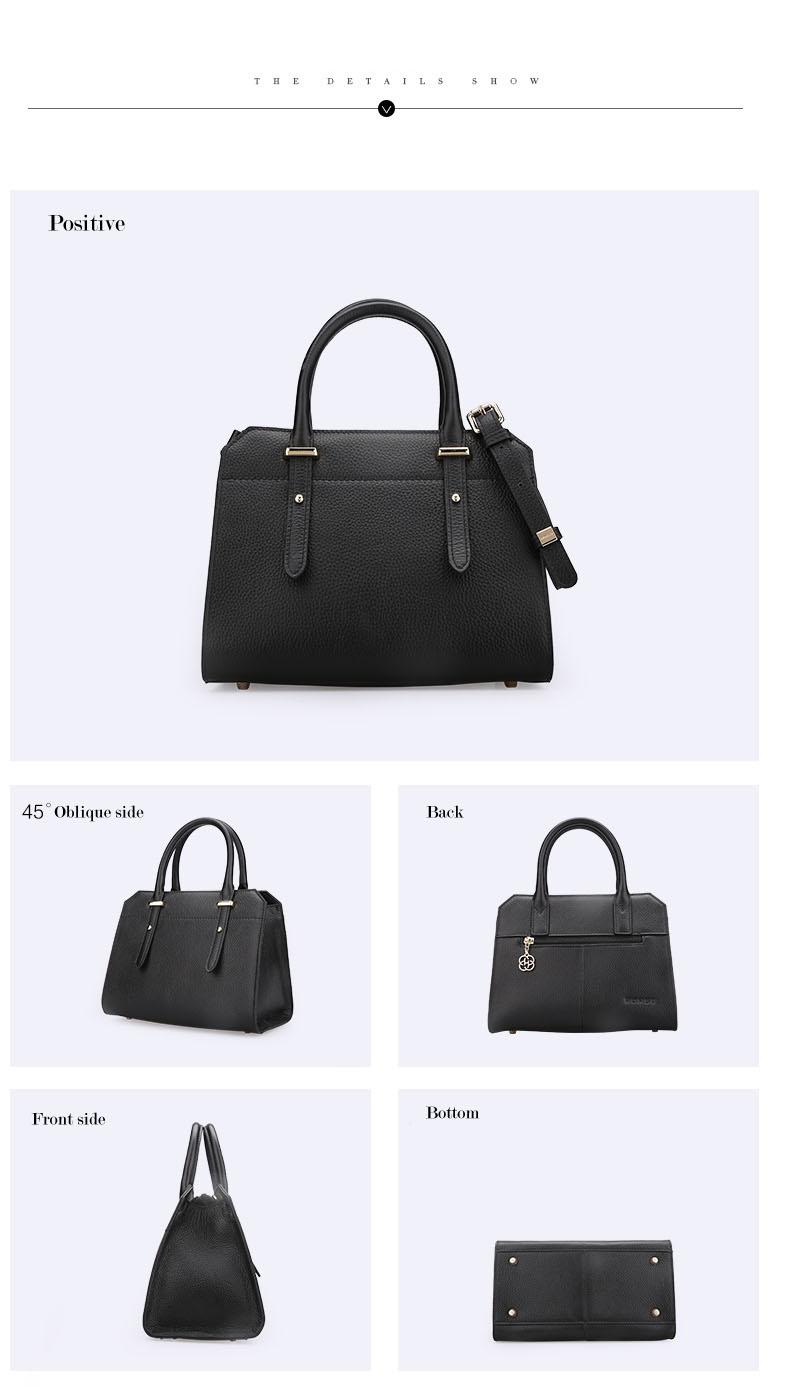 Famous luxury Brands Women Genuine Leather Bag Ladies Tote Embossed leather Boston handbags 2017 Fashion Female Versatile Bag H51340227 (8)
