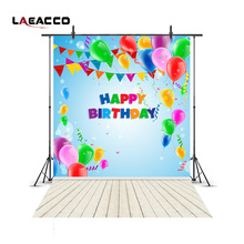 Buy Laeacco Happy Birthday Balloons Flags Wooden Floor Baby Children Photography Backgrounds Vinyl Custom Backdrops Photo Studio for $6.29 in AliExpress store