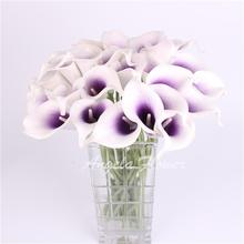 Colorful Artificial decorative flowers PU Real Touch Mini Calla Lily Wedding flower bouquet  for HOME table decoration 1PCS