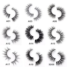 Visofree Eyelashes 3D Mink Eyelashes Crossing Mink Lashes Hand Made Full Strip Eye Lashes 34 Styles New Package cilios naturais(China)