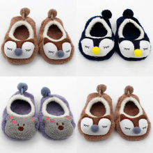 Cartoon Winter Baby Shoes Fleece Kids Baby Girl Boy Anti-slip Shoes Newborn Baby First Prewalker 0-3T
