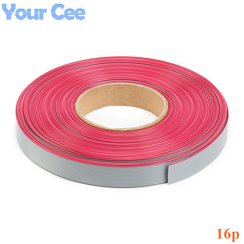 5m lot 1 27mm Spacing Pitch font b 16 b font font b pin b font online buy wholesale 16 pin ribbon cable from china 16 pin ribbon  at gsmportal.co