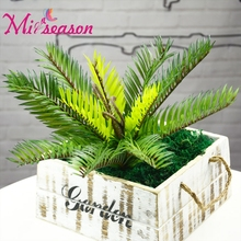 Miiseason Artificial Palm Tree Small Fern Green Plastic Fake Mini Coconut Plant For Home Wedding Decoration Arrangement