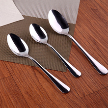 5 Size 2 kinds High Quality Stainless Steel Long-handled Spoons Flatware for Dessert Coffee Ice Cream