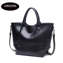 Lebolong New Big Bucket Capacity Outermost Layer Of Skin Handbag In Europe And The Tide One Shoulder Portable Fashion Lady Bags