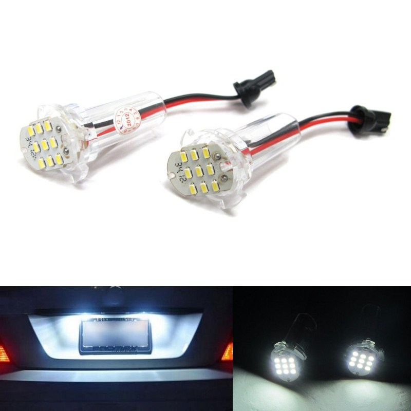 2pcs 9 LED Error Free Number License Plate Light Bulbs Auto Lamps Car Accessories Fit For Toyota Alphard Corolla Atis ist wish<br><br>Aliexpress