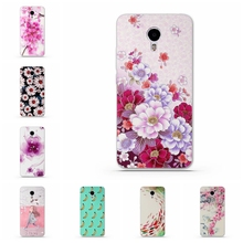 Luxury Floral Painted Back Cover for Meizu M3 Note/Blue Charm Note3 Case Flower Cell Phone Cases Phone Case for Meizu Note M3