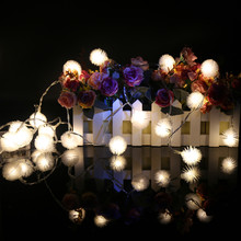 Snow ball 2M 20balls/set  LED String Lights for Xmas Garland Party Wedding Decoration Christmas Flasher Fairy Lights 3A battery