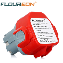 For Makita 12V 3000mAh Ni-MH Rechargeable Battery FLOUREON Power Tools Bateria for Mak Drill 1233 1234 1235 1050D 8413D 192681-5
