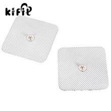 KIFIT 2 Pairs square 5*5cm TENS non-woven Self Adhesive replacement Electrode pad for muscle stimulator Tens machine pads(China)