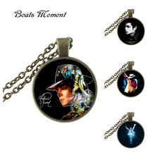 2017 Limited Zinc Link Chain Collier Collares Michael Jackson Pendant Necklace B&m New Glass Long Necklaces For Women Cheap